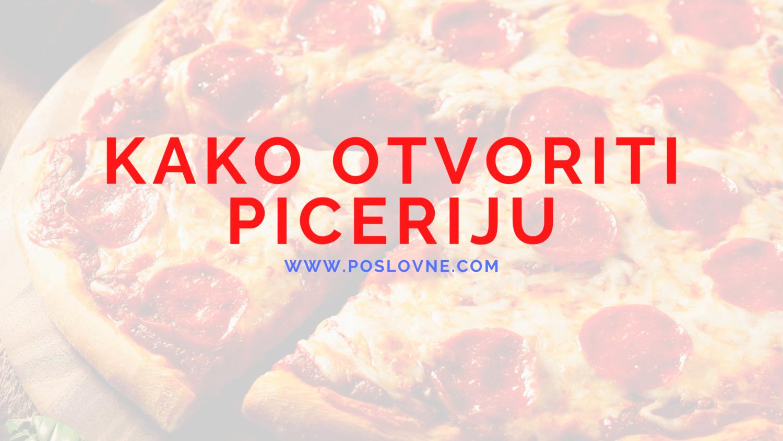kako otvoriti piceriju
