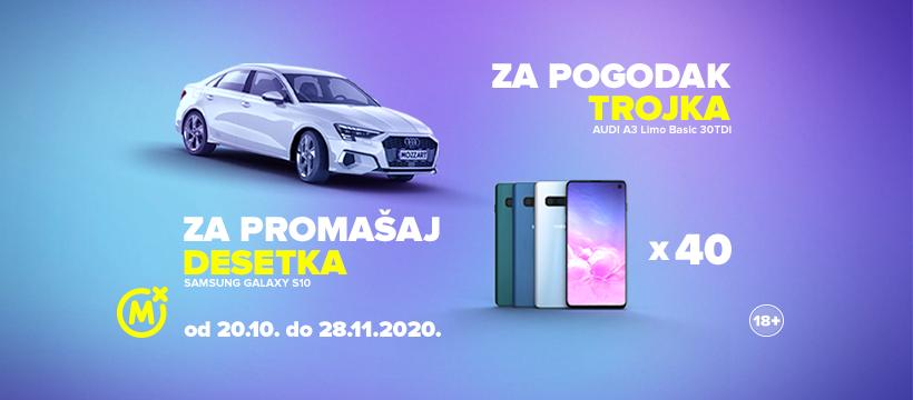 U Mozzartu osvoji AUDI A3 Limo, a svakog dana te čeka i Samsung Galaxy S10