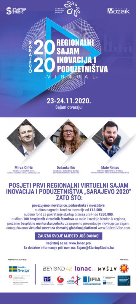 """Sajam inovacija i poduzetništva: Promotivnim videom najavljen Sajam """"Sarajevo 2020"""":"""