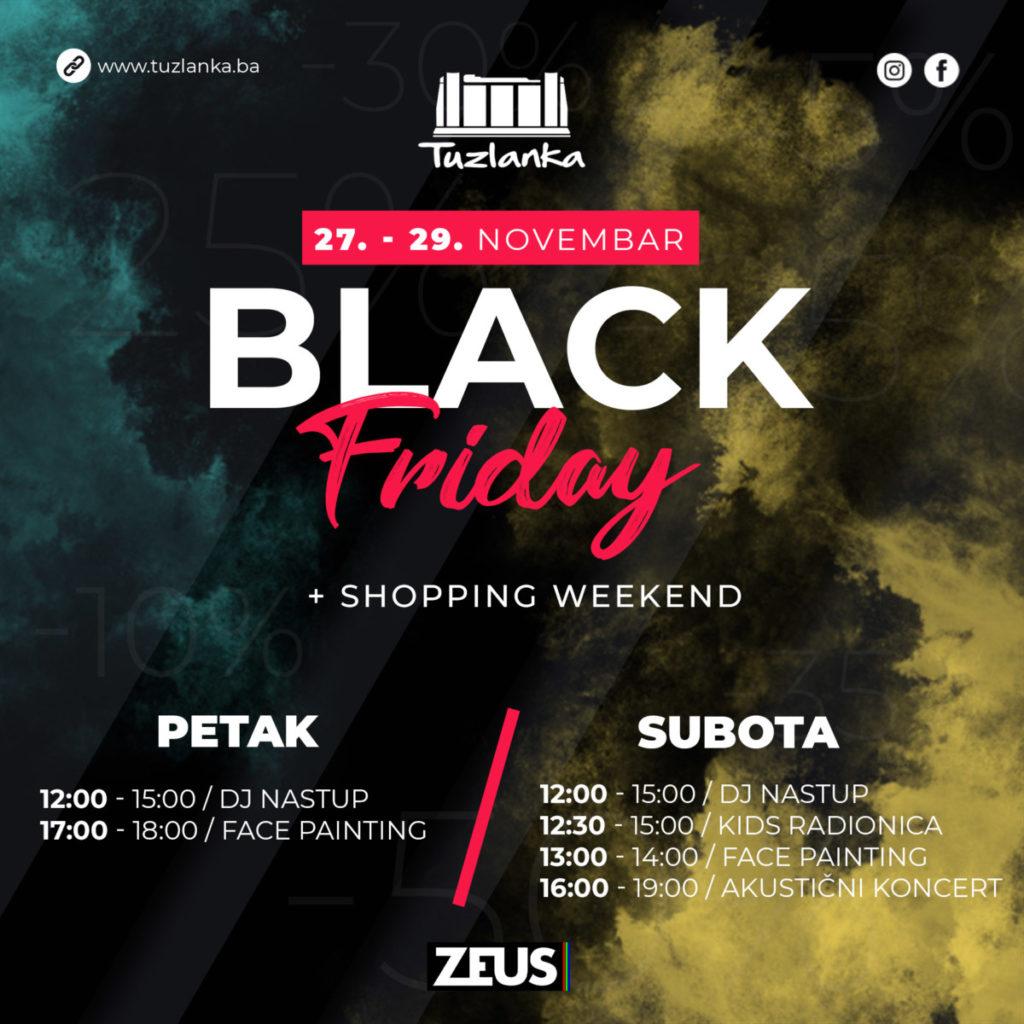 Black Friday u RK Tuzlanka/ Šoping sa odličnim cijenama uz cjelodnevnu zabavu