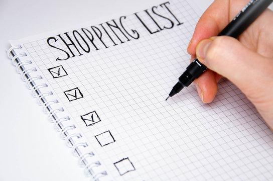 Kako napraviti listu namirnica za kupovinu