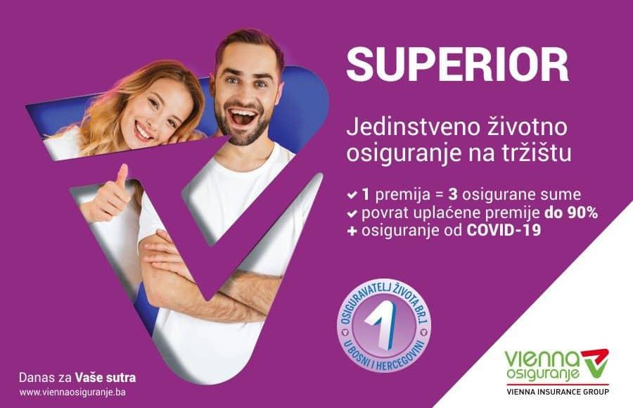 Vienna osiguranje d.d. VIG: SUPERIOR osiguranje života i zdravlja, uključivo COVID-19