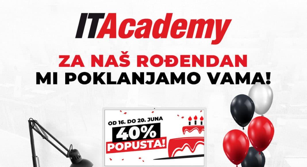 Rođendanska akcija na ITACADEMY: 40% popusta + BONUS paket za besplatno doživotno školovanje